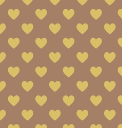 Seamless polka dot dark brown pattern vector