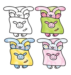 Sleep rabbits vector
