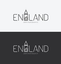 alphabet england design concept with flat sign vector image vector image