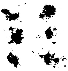 Black blotsSeth blots on a white vector image