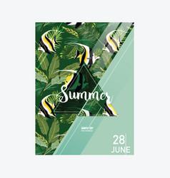 Brochure template tropical fish summer vector