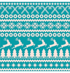 Christmas seamless pattern in the nordic style vector image vector image