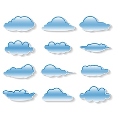 clouds set on white vector image vector image