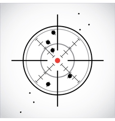 Crosshair shot vector image