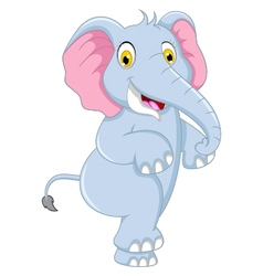 cute elephant cartoon dancing vector image