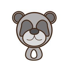 face panda cartoon animal vector image