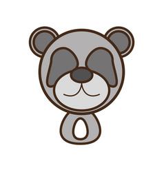 face panda cartoon animal vector image vector image