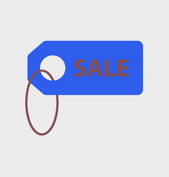 Flat icon of sale label vector