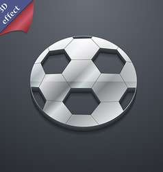 Football icon symbol 3D style Trendy modern design vector image vector image