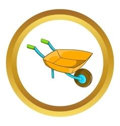 Garden wheelbarrow icon vector image vector image