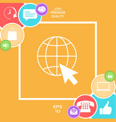 go to web internet icon vector image vector image
