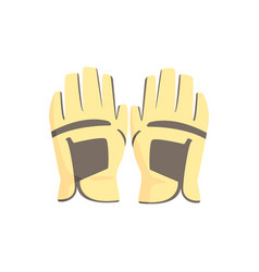 Golf gloves sport equipment vector