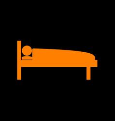 Hospital sign orange icon on black vector