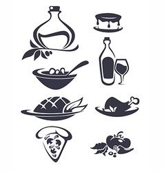 Italian menu vector