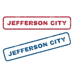Jefferson city rubber stamps vector