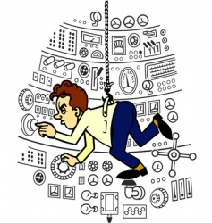 laboratory assistant vector image