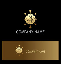 Orbit technology gold logo vector