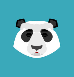 panda sleeping emoji chinese bear asleep emotion vector image