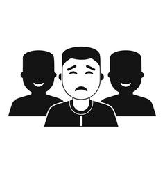 People group icon simple style vector