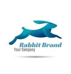 Rabbit logo template design creative vector