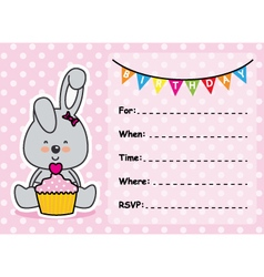 rabbit with a cupcake vector image vector image