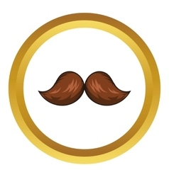 Retro hipster mustache icon cartoon style vector