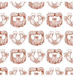 Seamless pattern with a mask beard and mustache vector