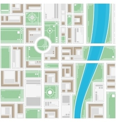 Stylized map of the city vector image