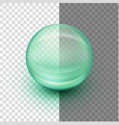 transparent soft gel capsule eps 10 vector image