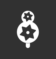 White icon on black background eco tree with vector