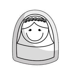 Wife character isolated icon vector