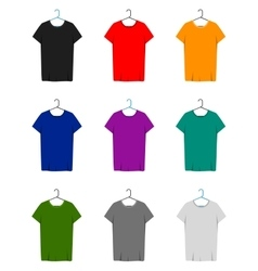 Short sleeve t-shirts template vector
