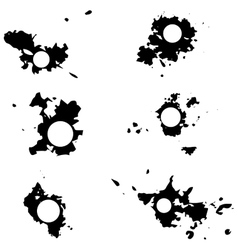 Black blots with space for inscriptions vector