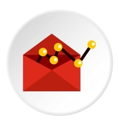 E-mail configuration icon flat style vector