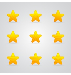 Yellow star icons set vector