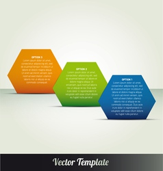 Abstract page option templates vector