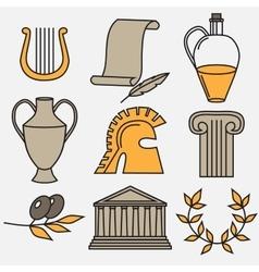 Travel Greek Culture Landmarks and cultural vector image
