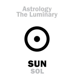 astrology luminary sun sol vector image