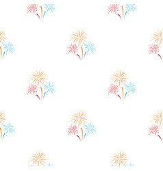 colorful fireworks icon in cartoon style isolated vector image
