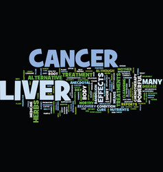 Liver cancer text background word cloud concept vector