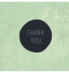 retro thank you card design vector image