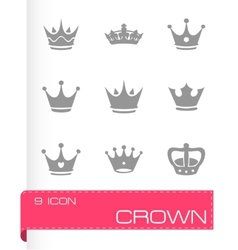 Crown icons set vector