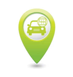 Cars transmission green map pointer vector