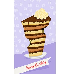 Cartoon high cake the trail from the teeth funny vector
