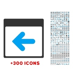 Previous day icon vector