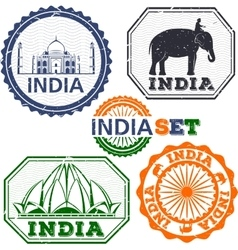 India stamps set vector