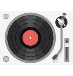 Vinyl turntable flat vector