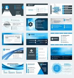Set of modern creative business card templates vector