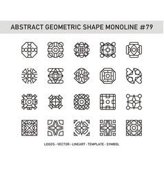 Abstract geometric shape monoline 79 vector