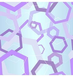 abstract hexagon hi-tech seamless background vector image vector image